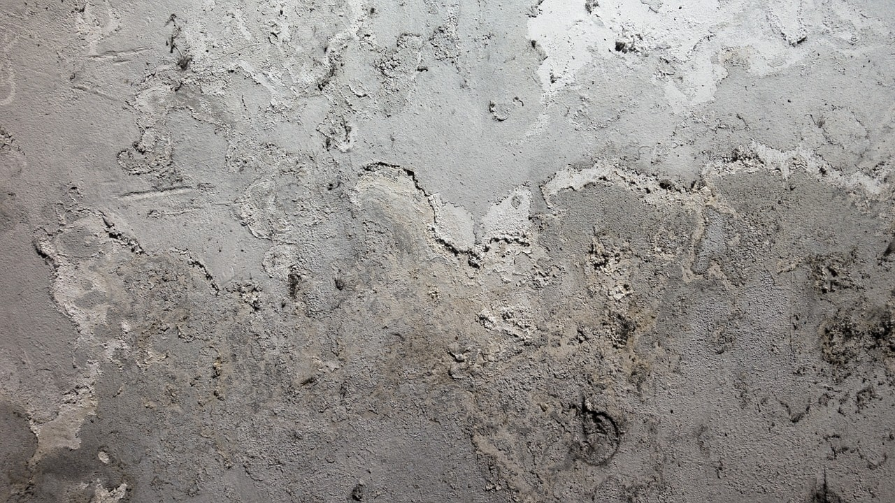 grey wall with lead paint