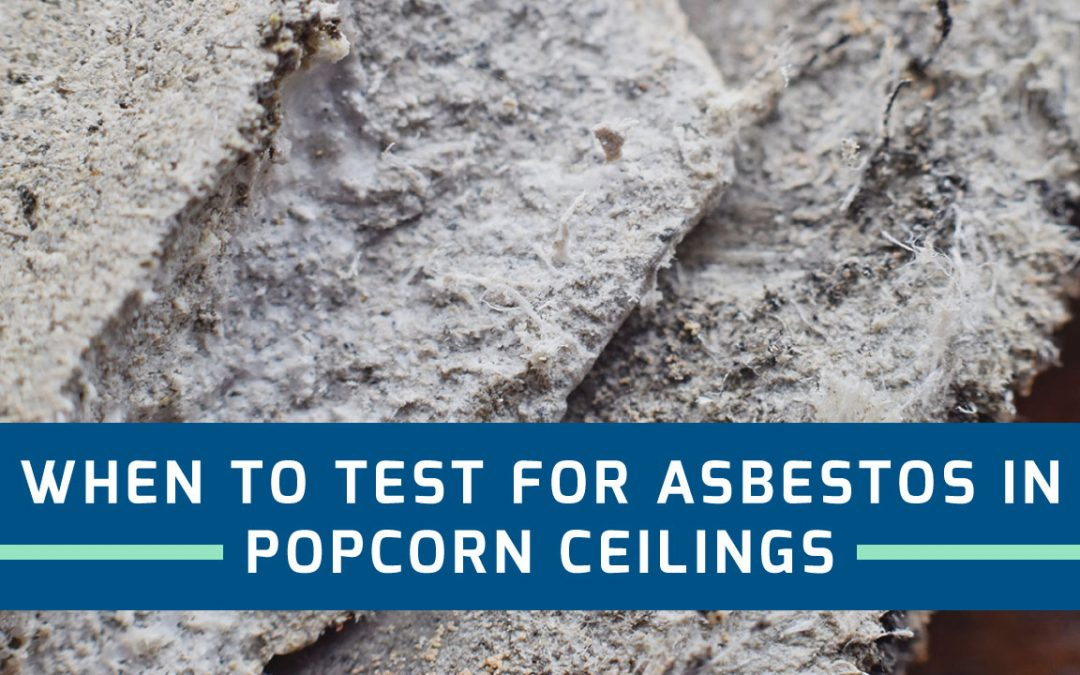 Close up shot of asbestos in a popcorn ceiling